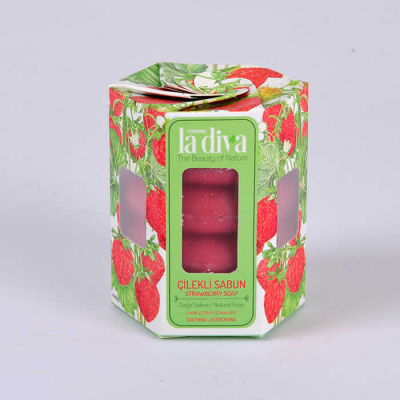 LaDiva Twisted Strawberry Soap 4x45 Gr.