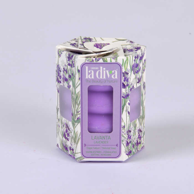 LaDiva Twisted Boutique Lavender Soap 4x45 Gr.